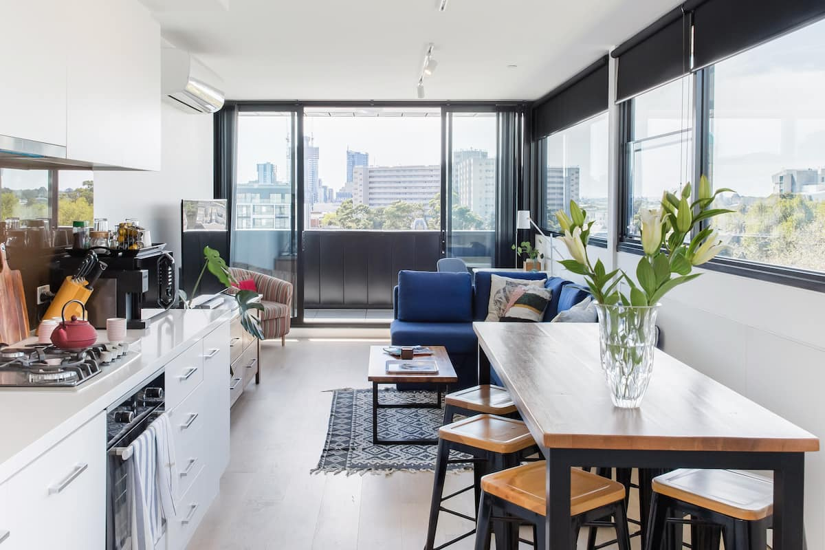 Eclectic Penthouse with 270-Degree View Balcony