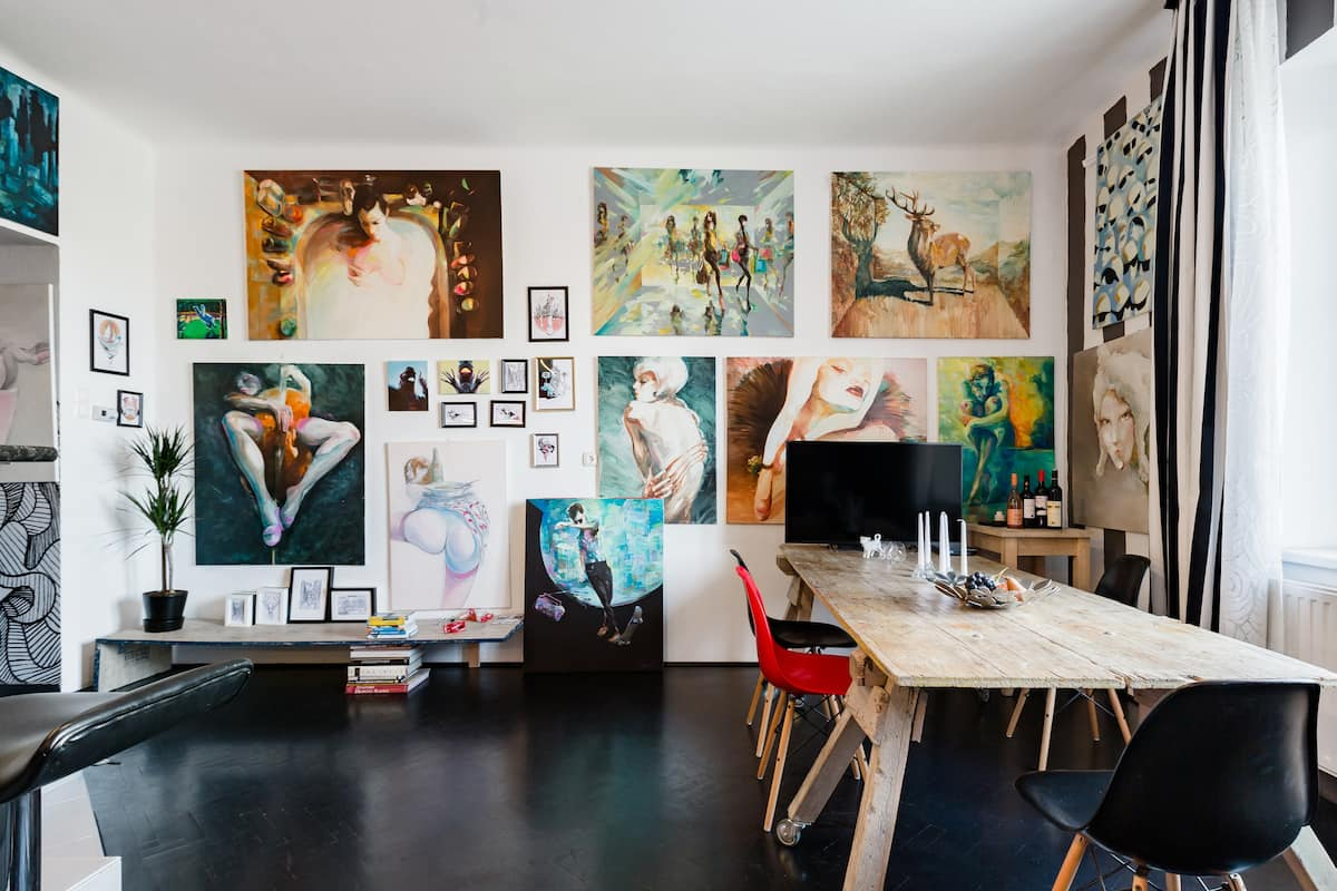 Vibrant Studio Gallery in Historical Building