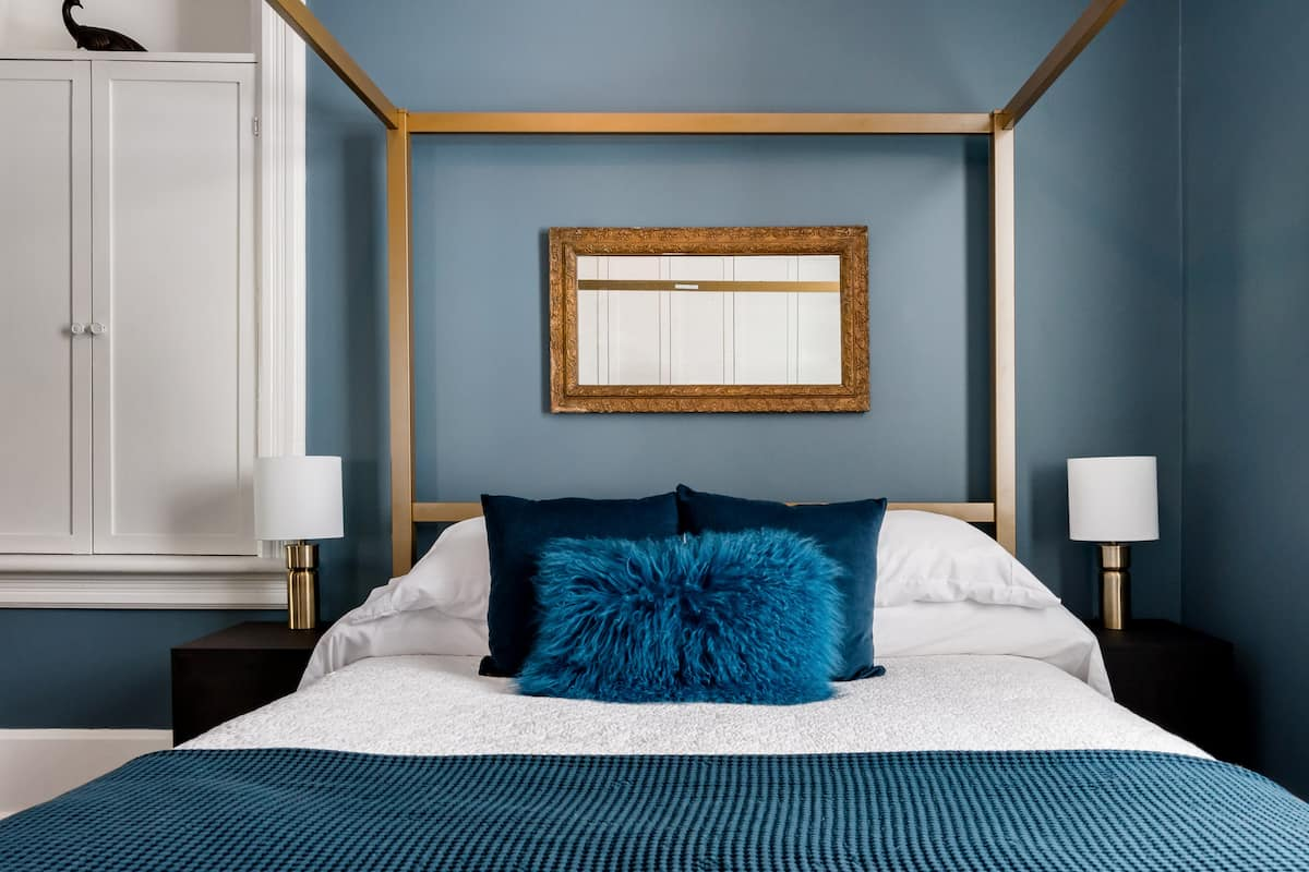 The Blue Suite at the Mercantile Manor in Historic Elora