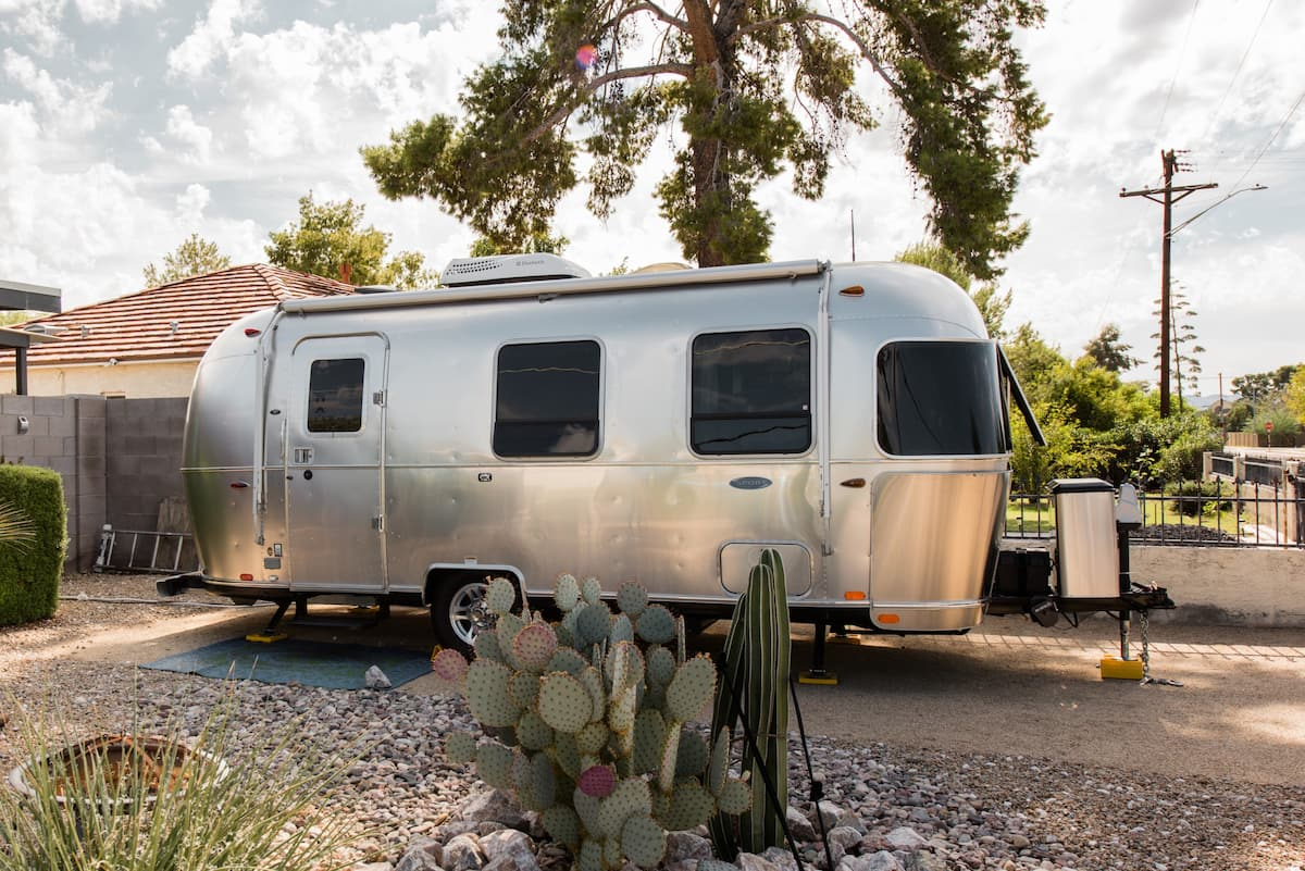 Live the Airstream Dream along with a Private Garden