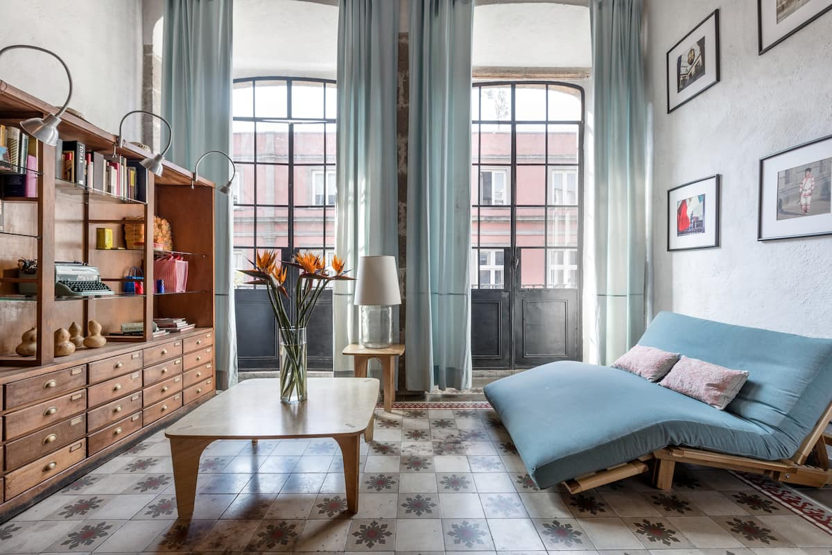 Characterful Balcony Apartment in an 18th-Century Building