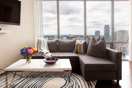 Million Dollar City Views in Stylish and Trendy Apartment