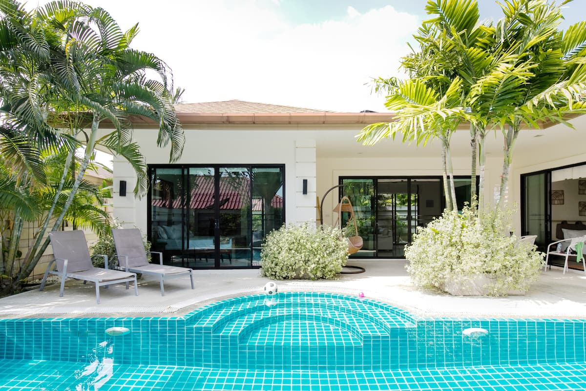 Cape Rawai Villa with a Poolside Patio