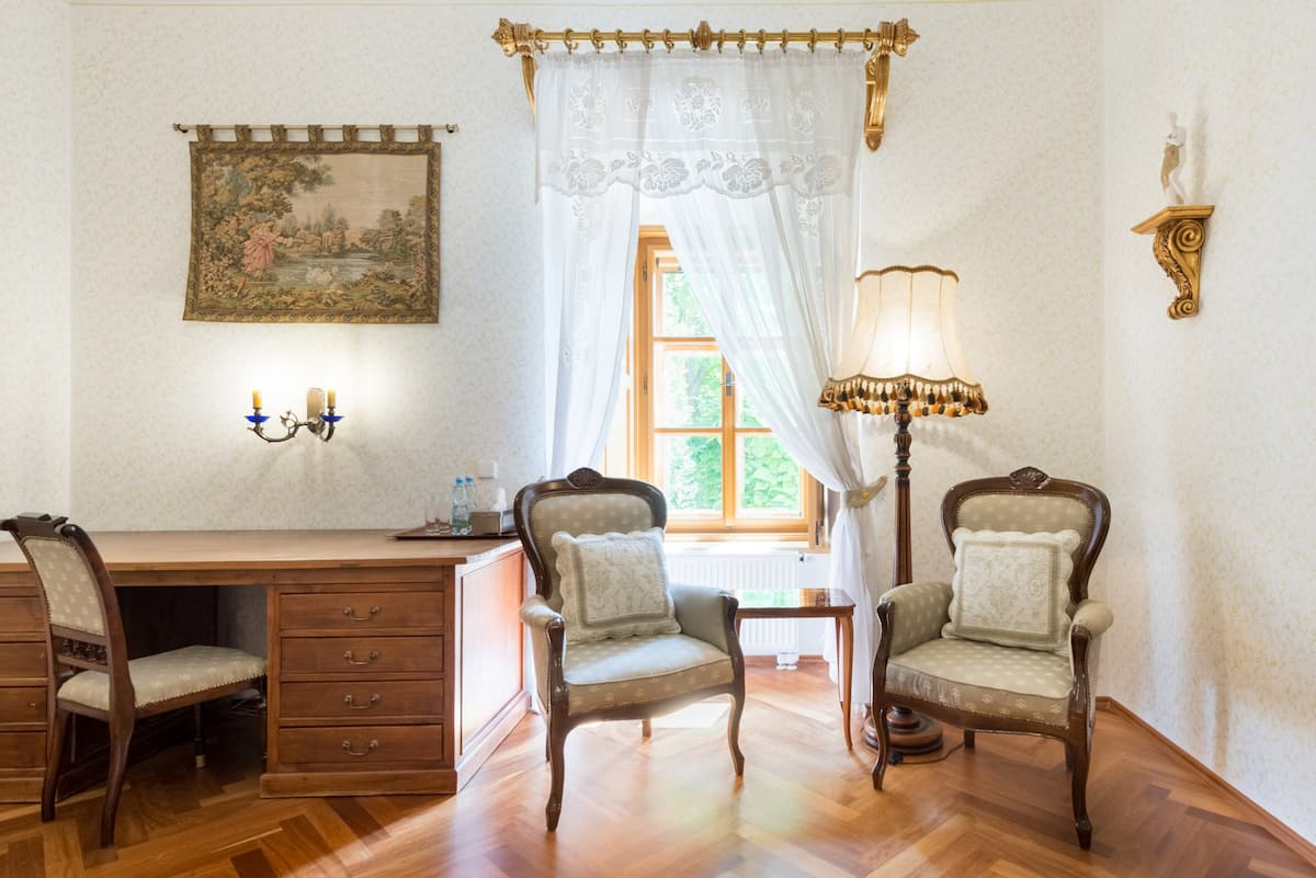 History and Style in Castle with Wellness and Garden