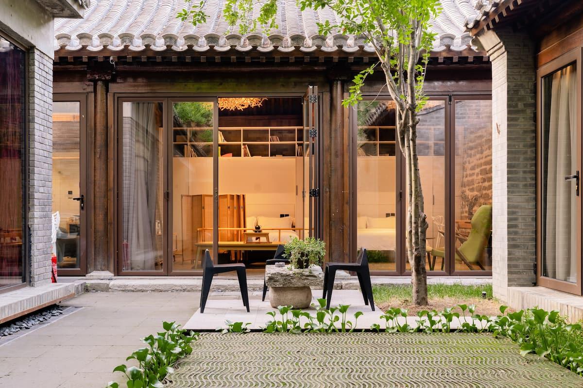 [我宅][ 国学-棠颂] 邻近雍和宫带露台的古风四合院