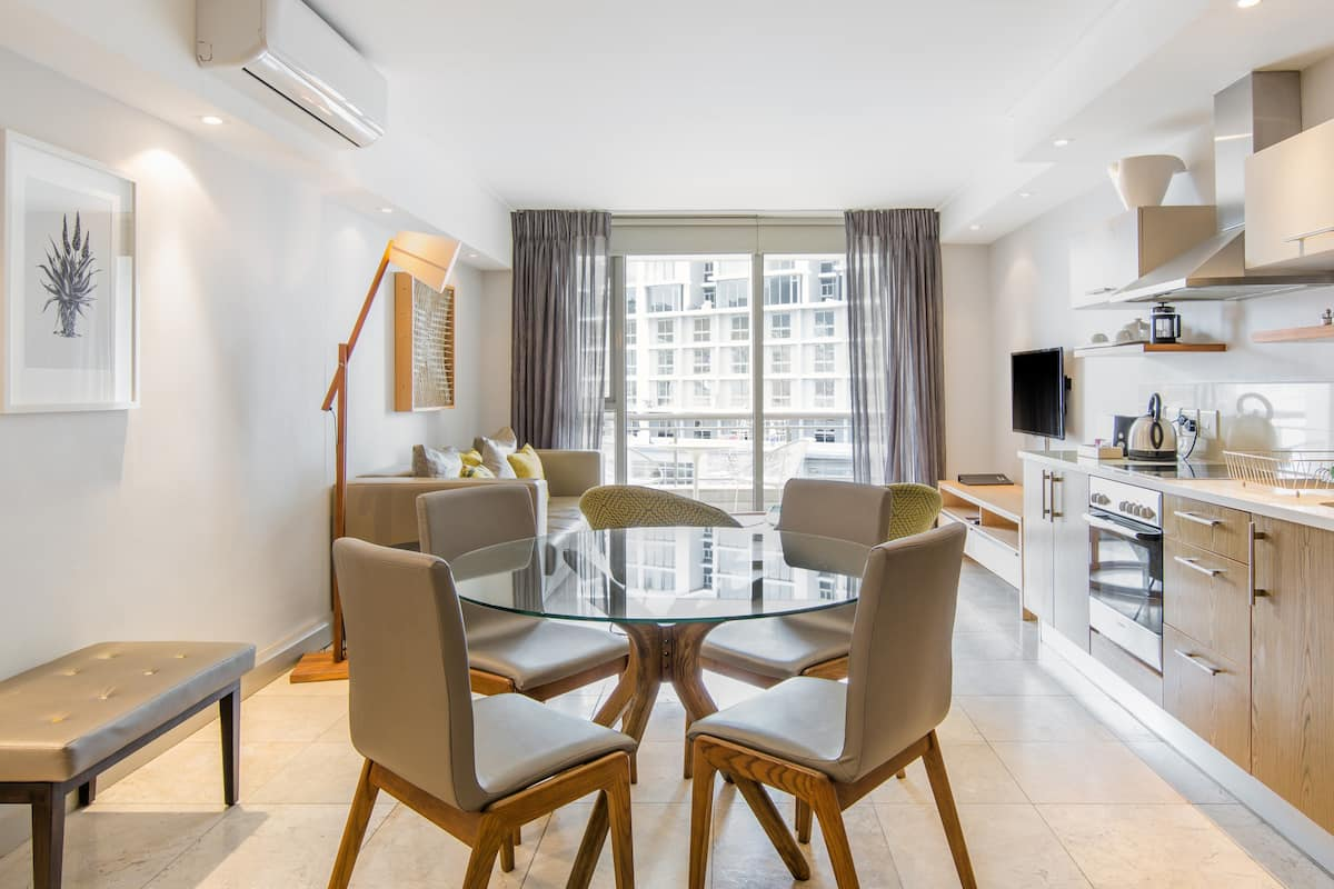 Walk to the Waterfront from this Stylish Suite