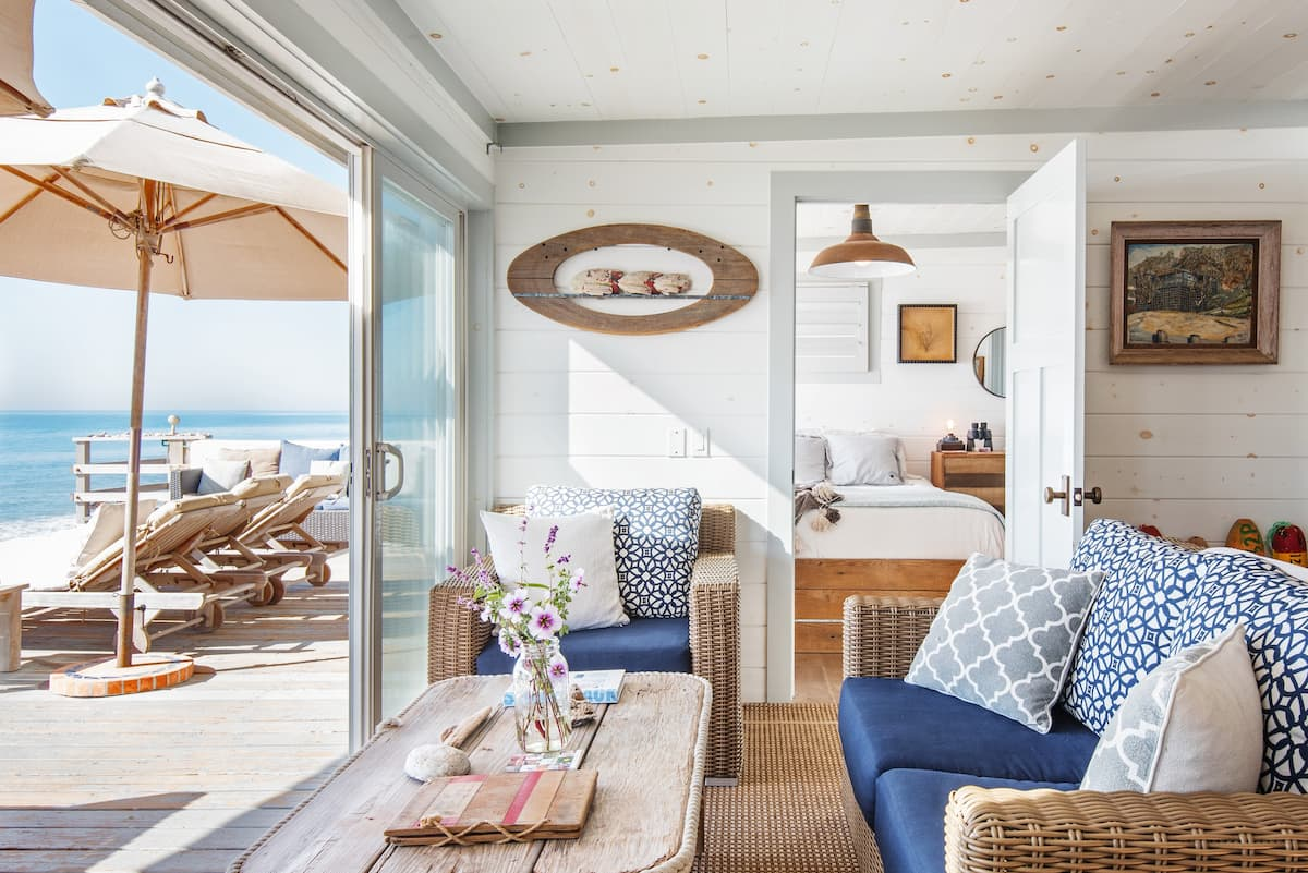 Shabby Chic Malibu Ocean Front- Sand, Surf and Tiki Bar