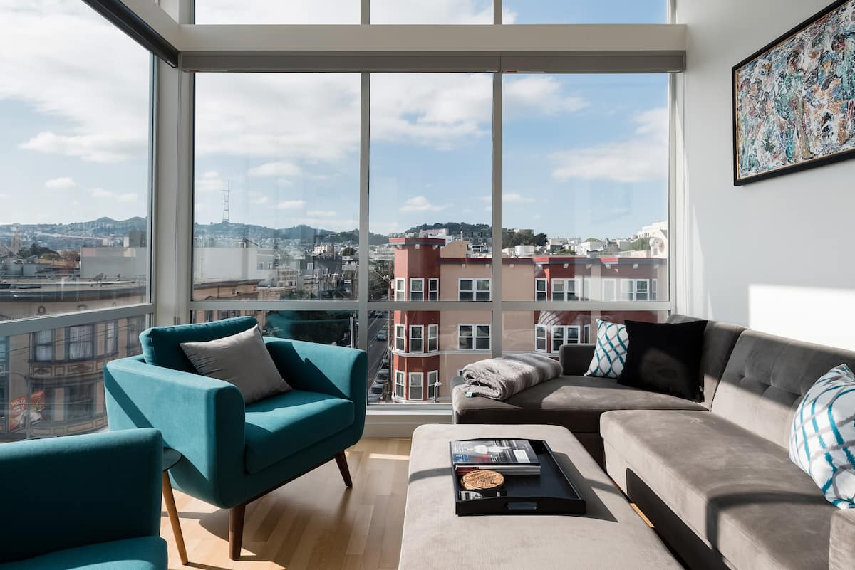 Sun-drenched Room and Balcony in the Mission