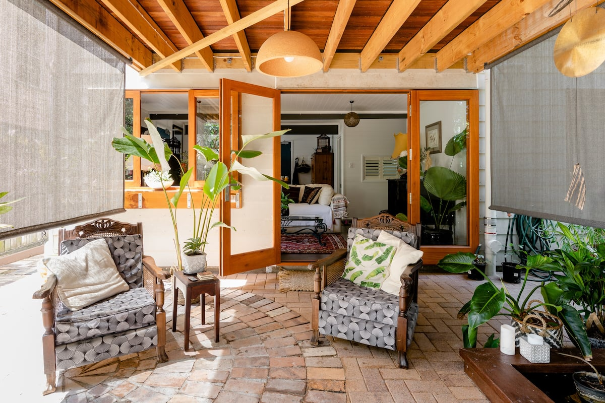 Look Out to a Tropical Garden From Ethel's Hideaway