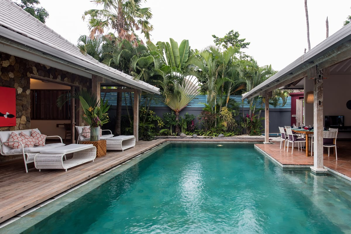 Sleek Designer Villa with Colorful Balinese Vibes