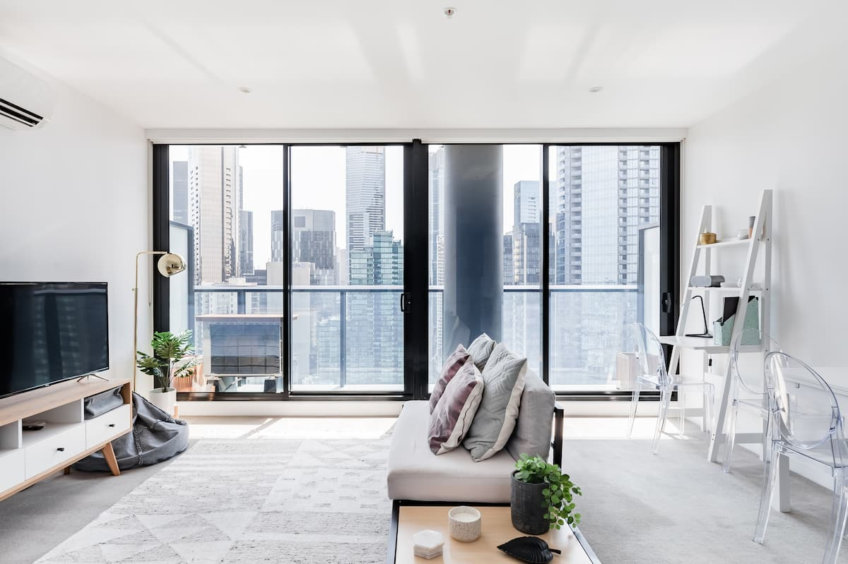 Chic High Rise Condo with City View Balcony