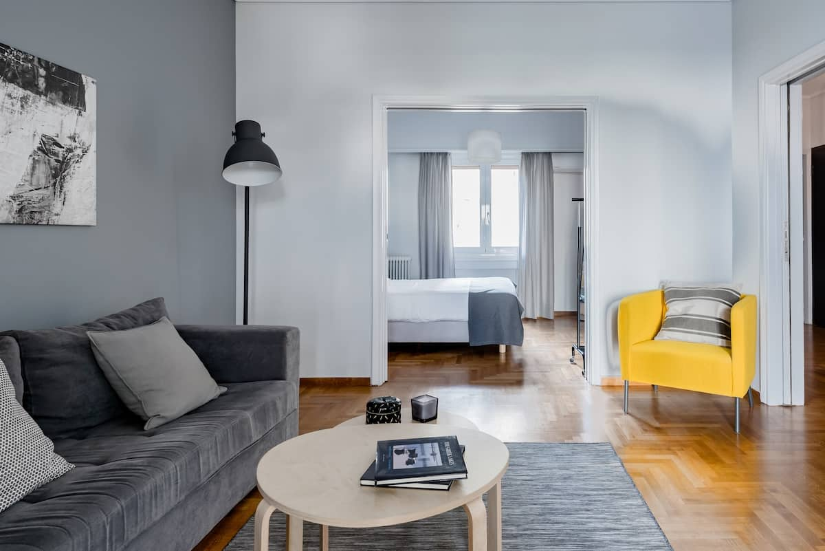 Explore Athens from a Bright and Spacious Apartment in Plaka