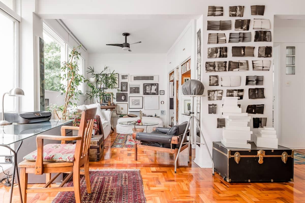 Apartamento atelier de artista no coração dos Jardins