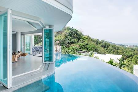 Villa Beyond A Stunning Hillside Ocean View Villa near Beach