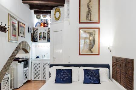 Intimo ed eclettico studio nel cuore del centro storico a Trastevere
