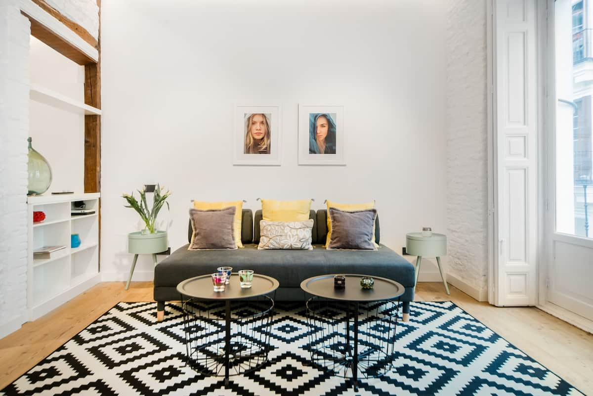 Walk to the Prado from a Bright and Airy Modernized Flat