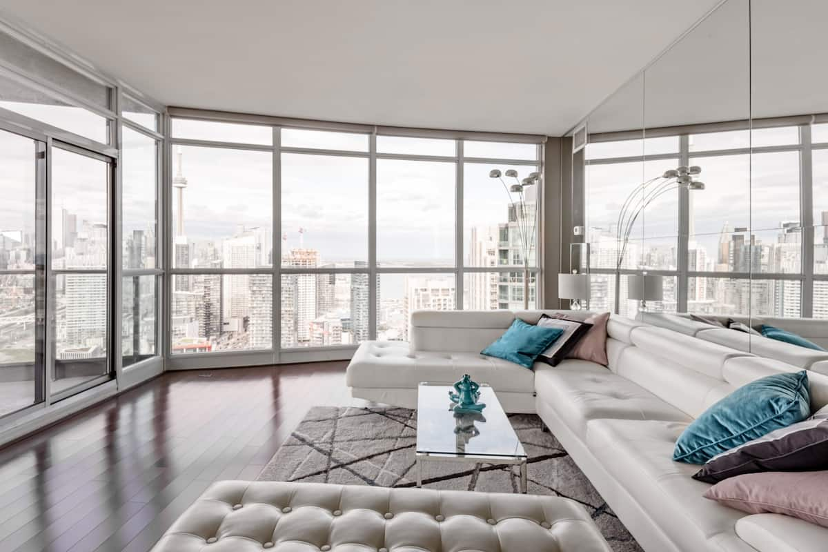 Get a Bird's Eye View of the City from a Polished Penthouse