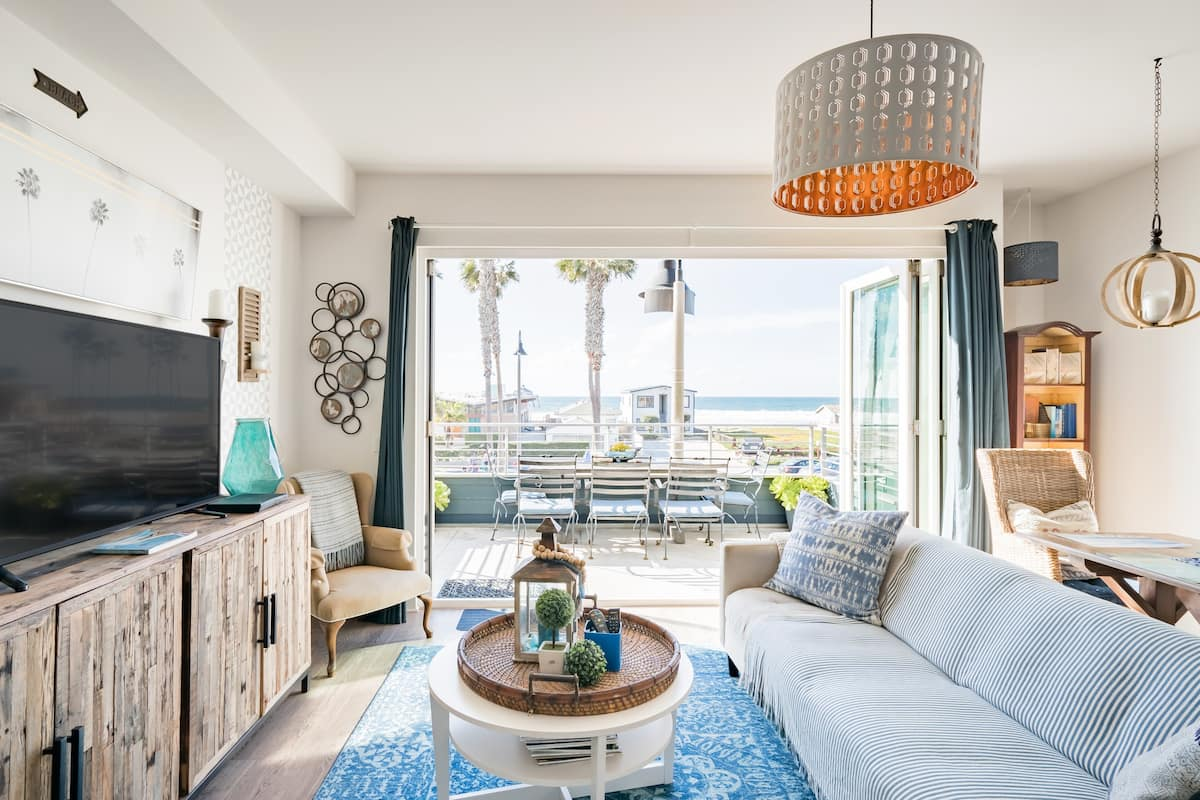 Beach Break Five, Ocean View with Seaside Style