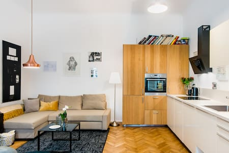 Explore Old Town from a Hip, Book-Filled Apartment