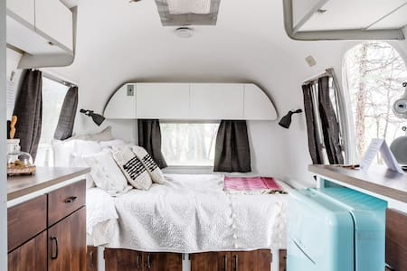 Stunning Renovated 1965 Airstream with Outdoor Sitting Area
