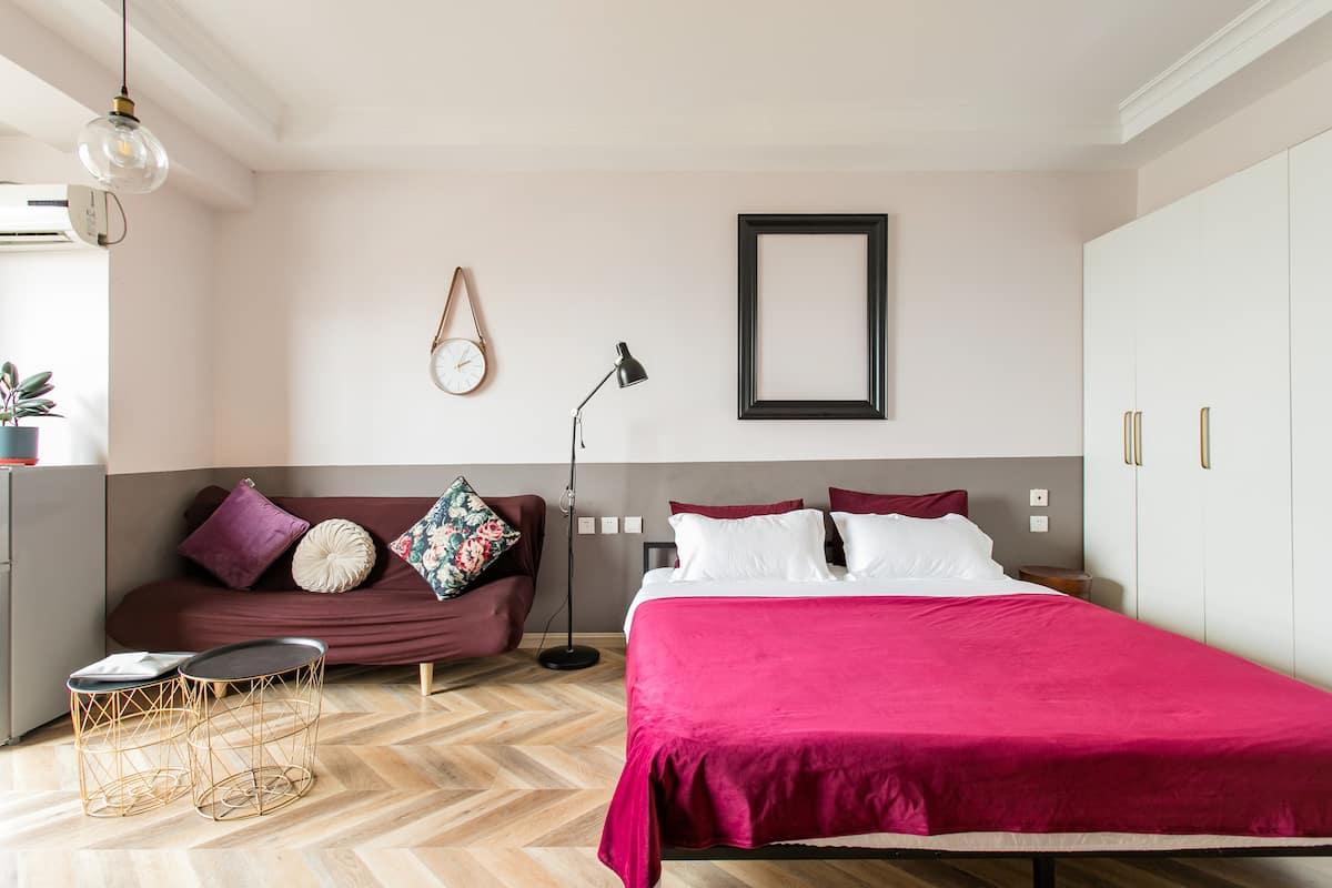 红庙坡街道的美式摩登公寓/地暖房/连住优惠