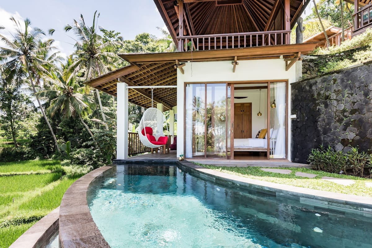 Look Out Across Beautiful Rice Fields From a Chic Villa
