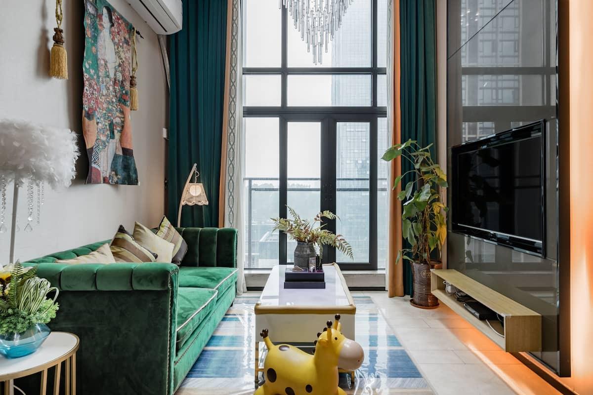广州长隆绿色丛林主题复式两房套房公寓-大马戏-野生动物园-广交会