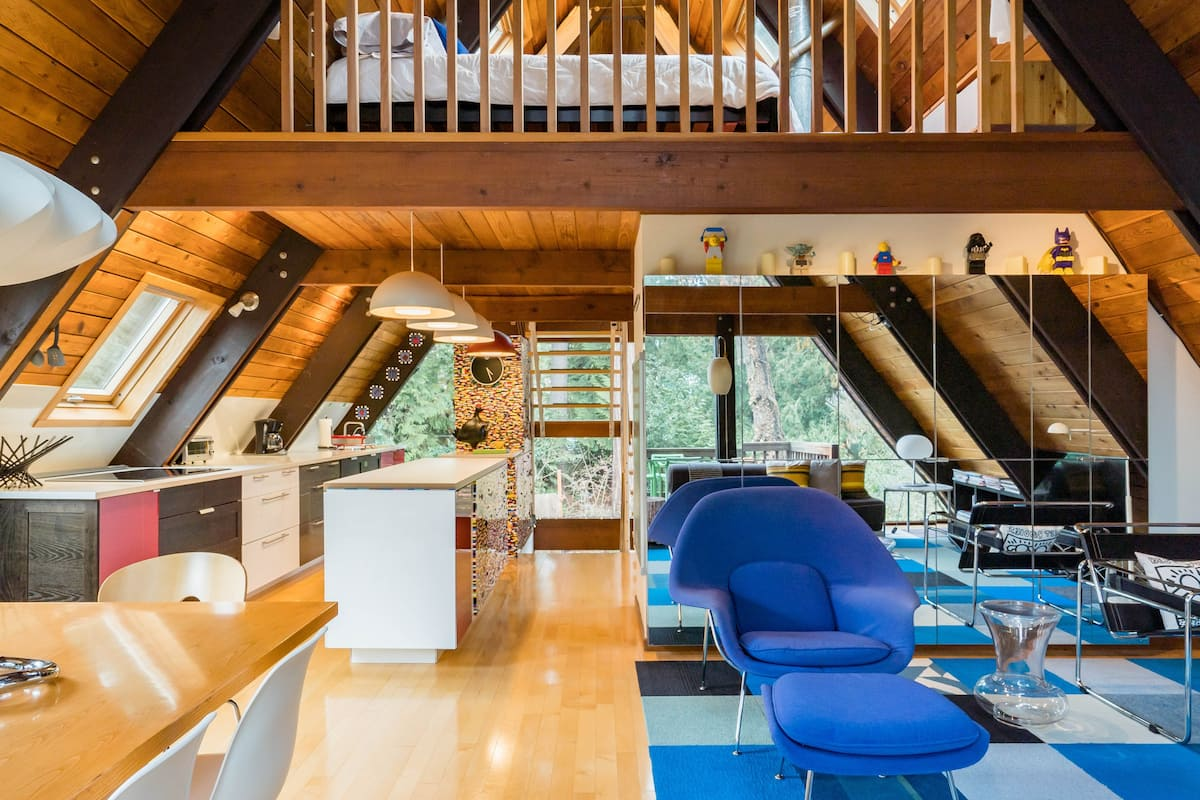 A-Frame Architectural Retreat with Lego Kitchen