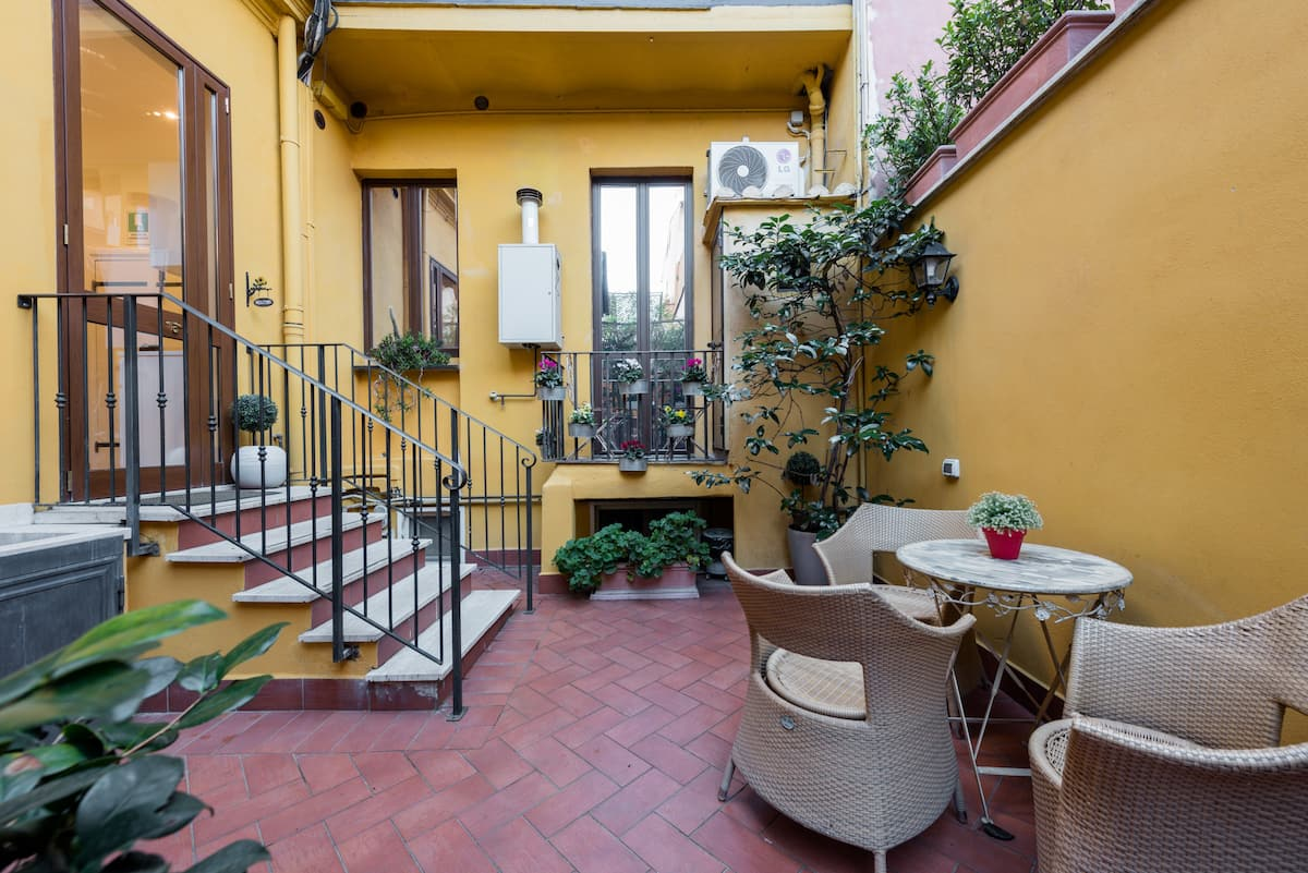 Sit in the Private Terrace of this Gorgeous Home in Rome