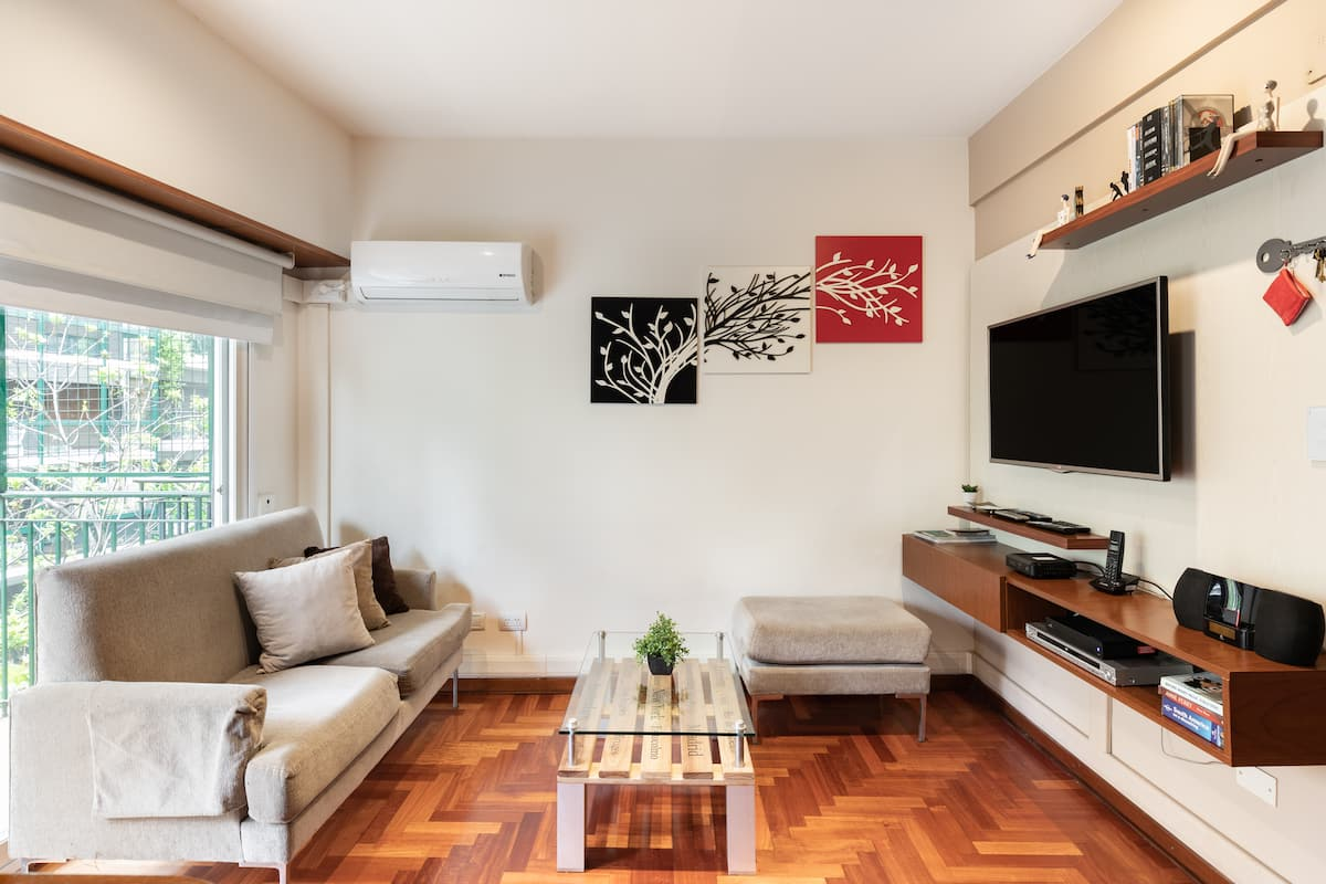 Sit out on the Balcony of this Sunny Recoleta Apartment