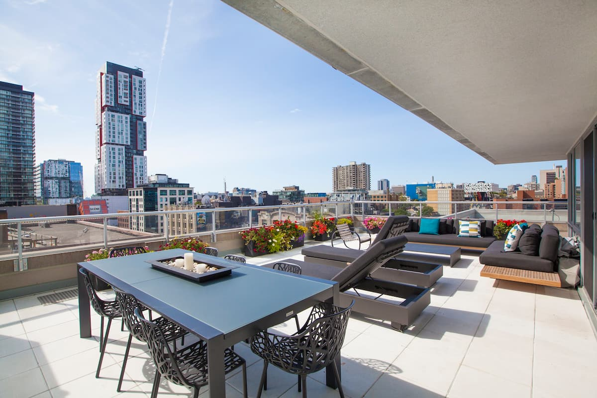 Unwind on the Private Terrace of a Downtown Oasis