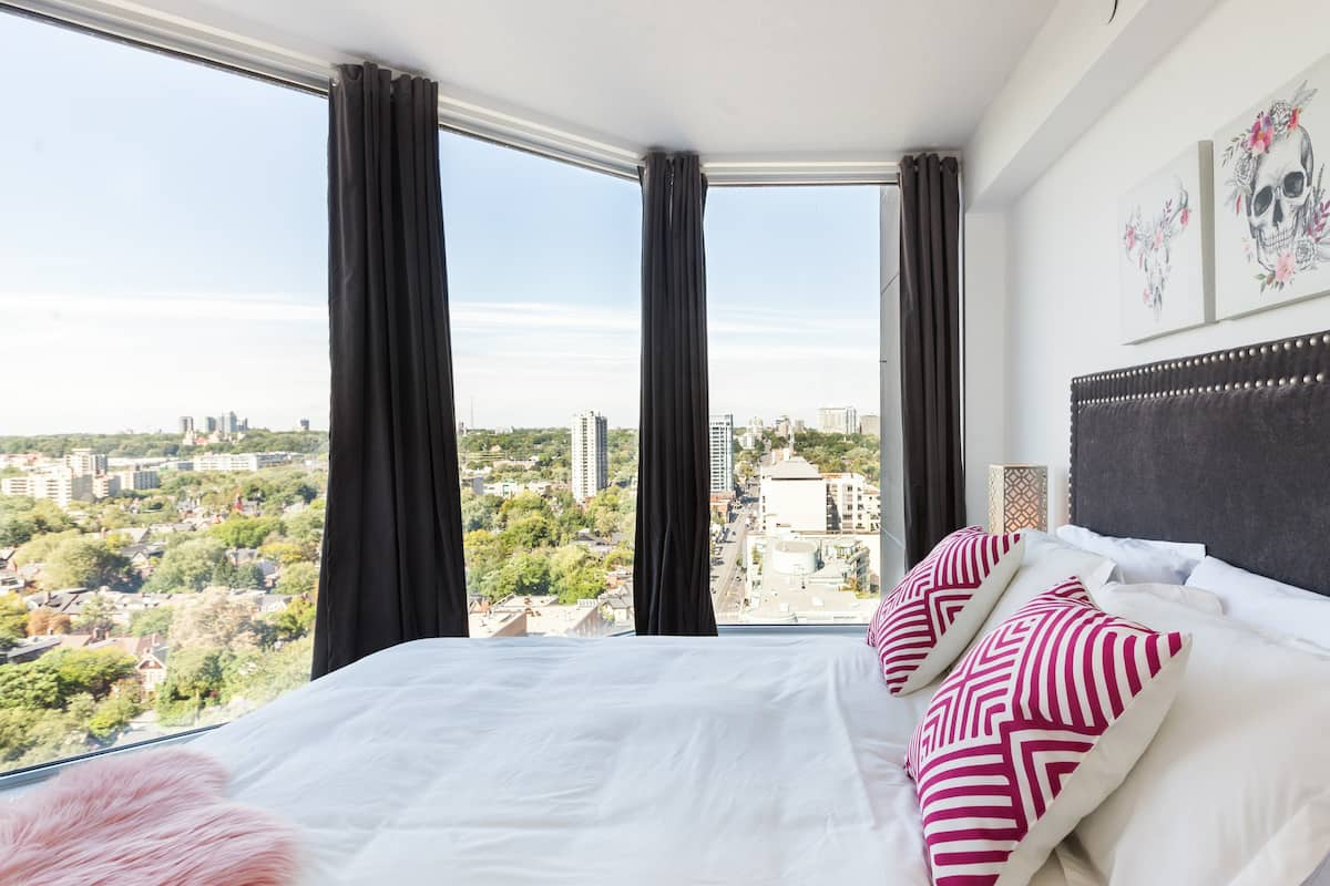 Admire City Views from Bed at this Chic Apartment