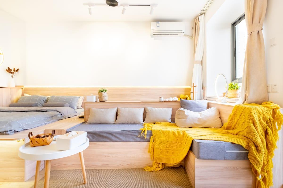 邑想稻香-上海-温馨榻榻米,温情投影地铁站口静谧茶享公寓
