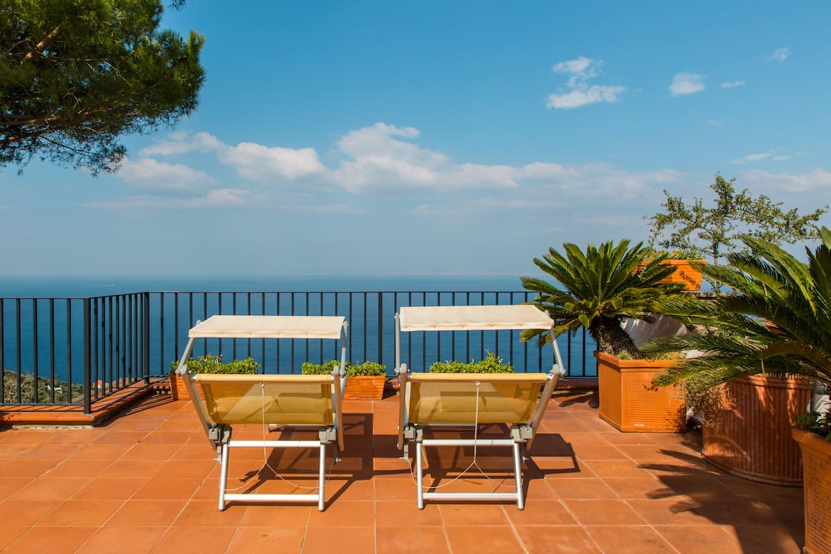 Villa Sea View Sorrento Amalfi Coast large terrace