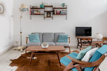 Lounge in the Intimate Urban Garden at a Retro Getaway