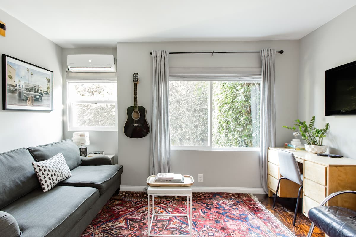 Shop at the Grove from a Cute and Central Apartment