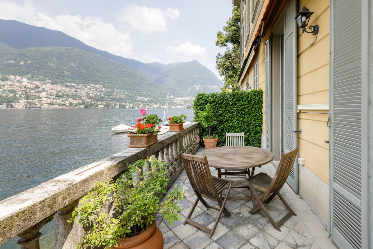 Updated, Historic Villa with Gorgeous Patio on Lake Como