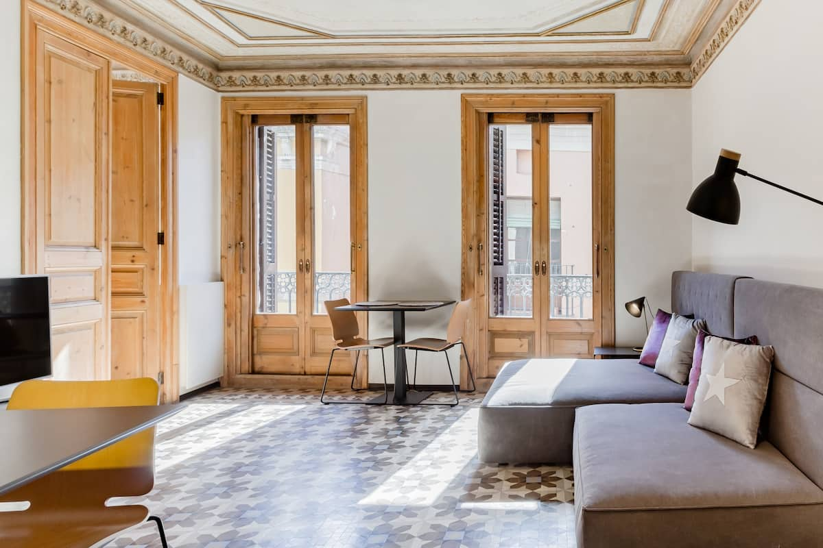 Restored Modernist Apartment Adjacent to Las Ramblas