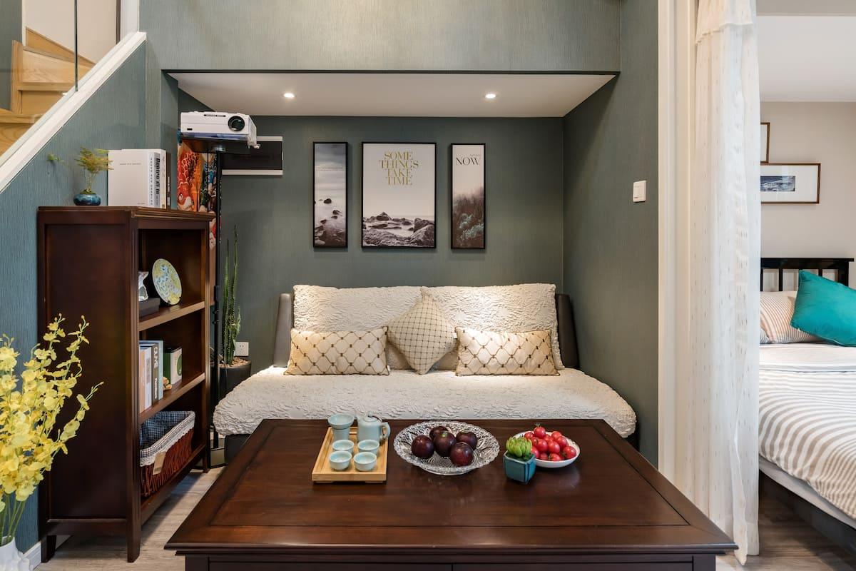 龍涎-位于市中心古典高雅的轻奢复式公寓/近西湖黄龙西溪