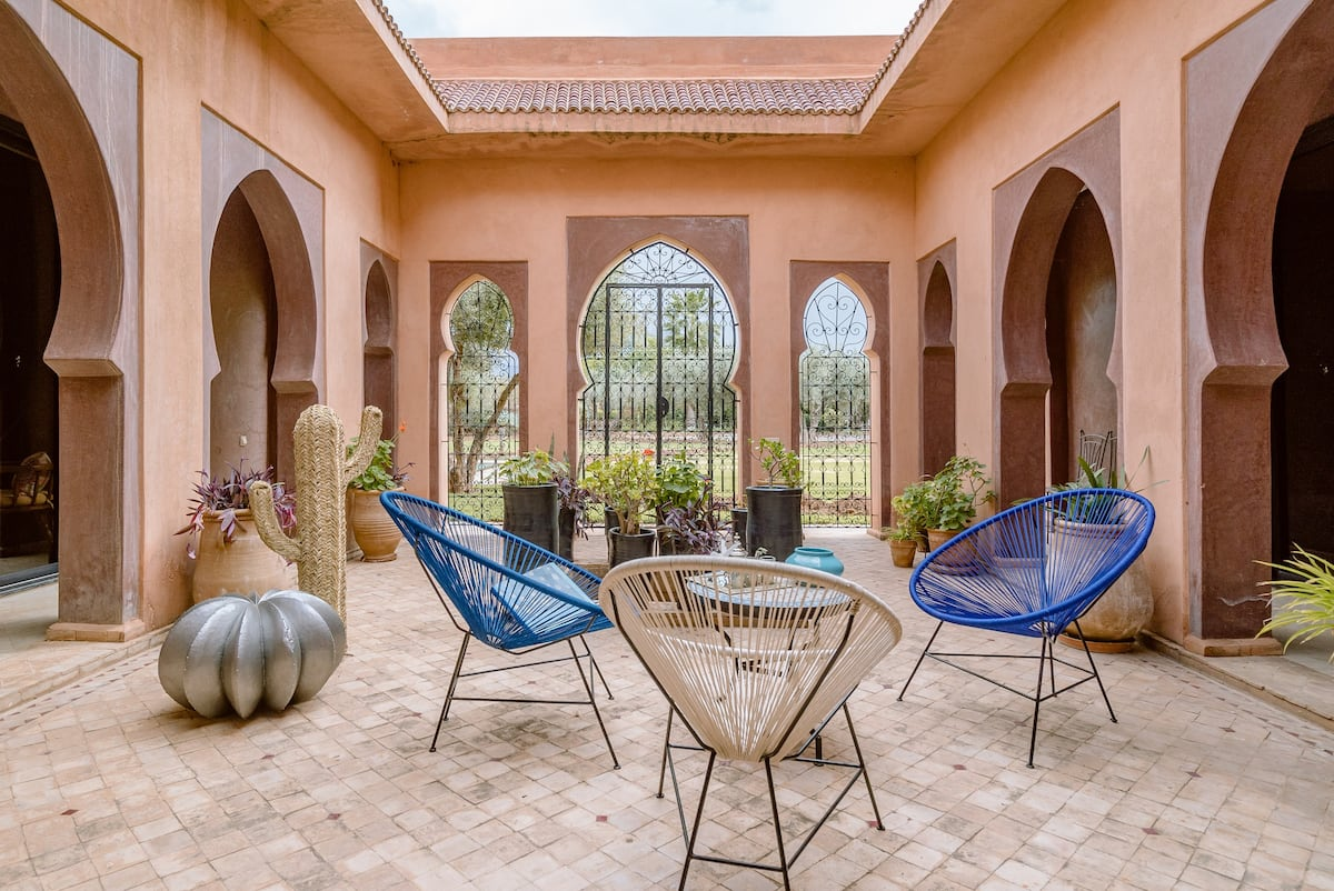 Explore Marrakech from a Poolside Villa on an Olive Grove