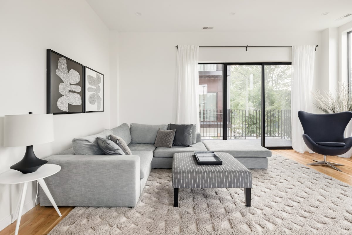 Sink into the Plush Sofa at This Sleek Pad near Wrigleyville