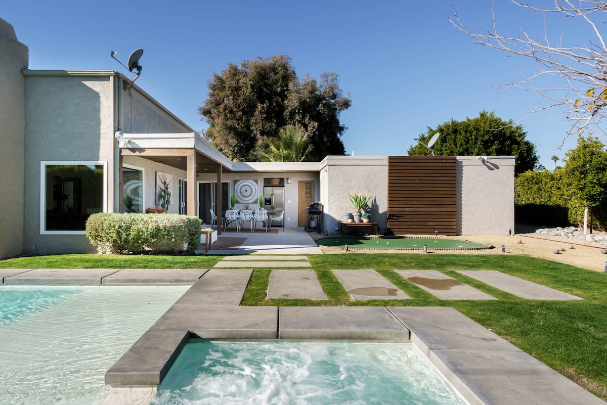 Sleek, Modern Home with Gaming & Heated Pool near Downtown