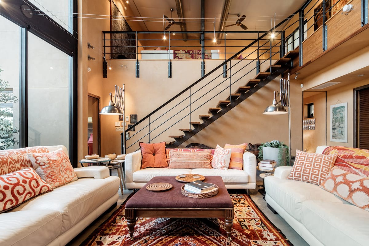 Swim, Sun and Relax in this Bali-inspired Artist's Loft House in Austin