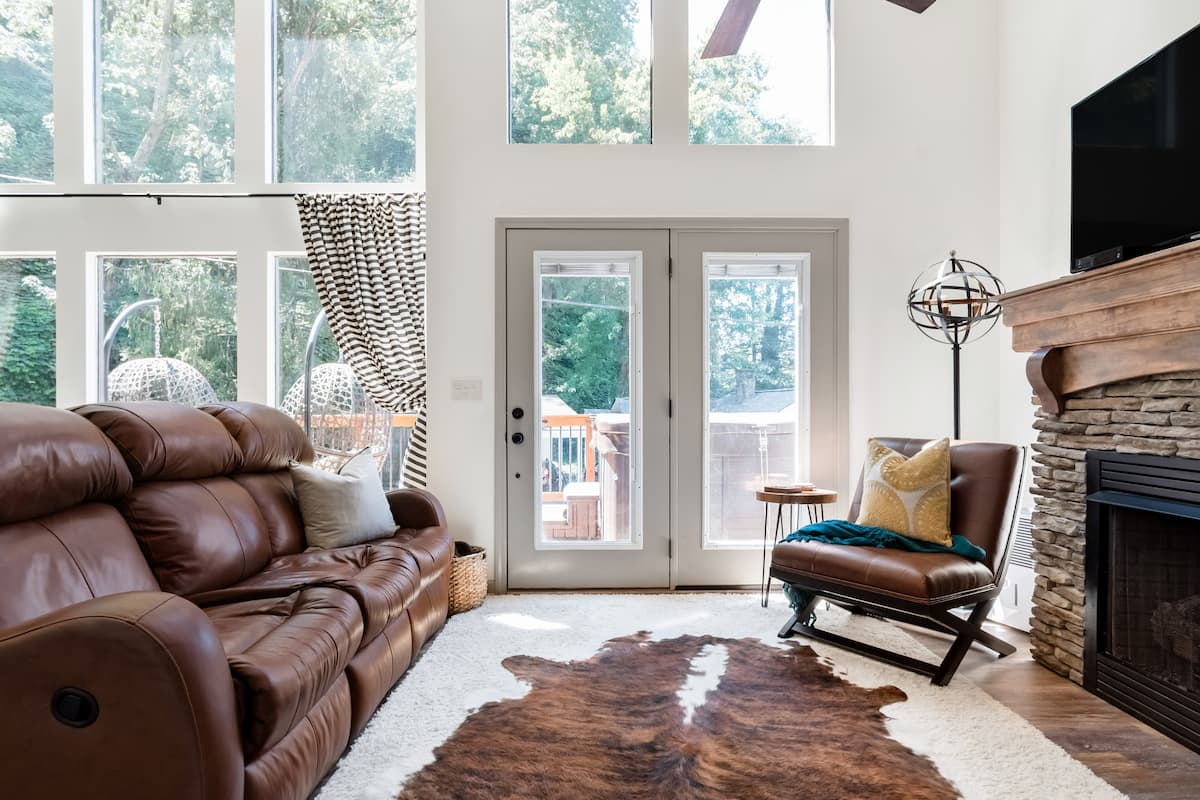 Bundle Up by the Cozy Fireplace in This Gatlinburg Cottage