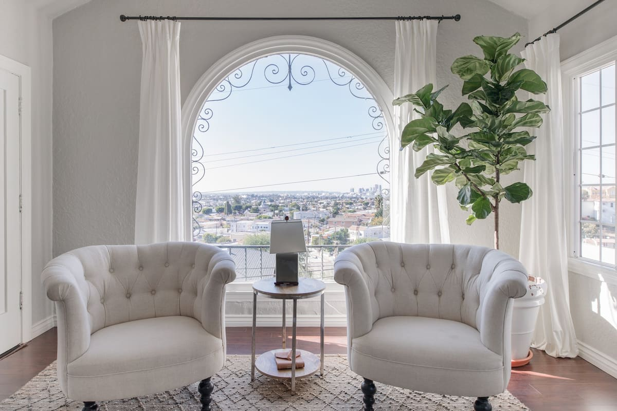 Old Hollywood 1920s Charm in a Renovated Spanish Apartment