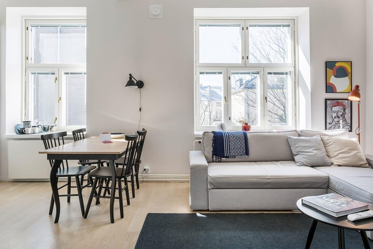 Classic Nordic Apartment in Hip Punavuori Design District