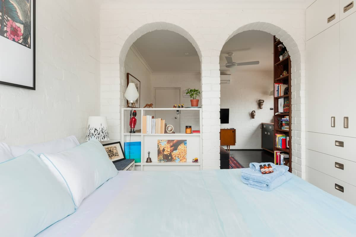 Stylish Fitzroy Apartment with Cool Brick Arches
