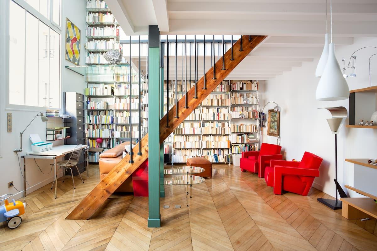 Loft calme dans un ancien atelier d'artiste à deux pas du Jardin du Luxembourg