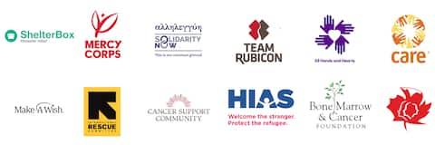 Partners of the Open Homes programme, including Mercy Corps, Team Rubicon, SIGNA, Refugees Welcome, and others.