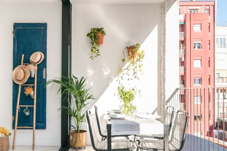 Colorful Apartment with Private Leafy Balcony